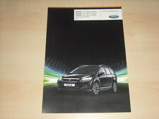 58798) Ford Focus Black Silver White Magic Prospekt 08/2009