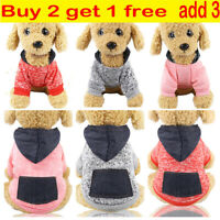 Pet Dog Cat Warm Fleece Vests Clothes Coat Puppy Shirt Sweater Winter Apparel US