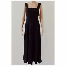 Womens R&M Richards Black Sparkly Sleeveless Long Gown Dress Size 10 NWT