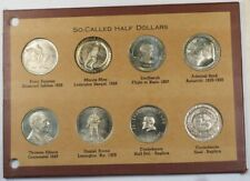 Collection of 8 So-Called Half Dollars Tokens in Booklet Good Condition GH