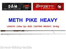 DAM EFFZETT METH PIKE HEAVY ROD FOR SEA GAME COARSE FISHING LURES DEAD BAIT RIGS
