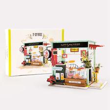 ROBOTIME DIY Doll House Bakery Cake Shop Miniature Room Dollhouse Birthday Gift