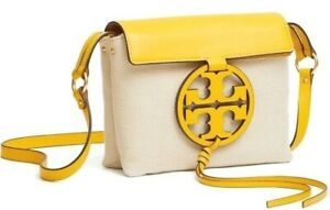NWT TORY BURCH MILLER Crossbody Shoulder Bag in VARIOUS COLORS Leather / Canvas