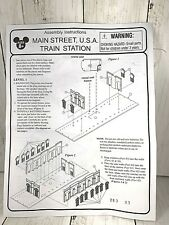 Disney World Scale Main Street Train Station Replacement ORIGINAL Instructions