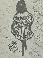 """Vintage Orig Franki'S Antique or Repro Doll Clothes Pattern Pretty Miss 9""""-21"""""""