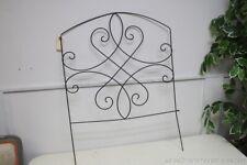 "Garden Fence Section Light Weight Metal Green Patina Decorative Scrolls 36"""