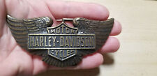 Vintage Harley Davidson Belt Buckle 1974 Righteous Products Motorcycle biker