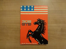 Ferrari 308 GTB Owners Handbook/Manual (North American Version)
