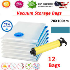 12x Strong Vacuum Storage Bags Space Saving Protect Organize Clothes Bedding