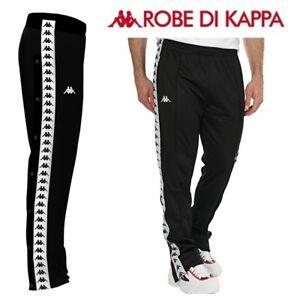 Kappa Banda Track Pants Black Tracksuit Bottoms Mens Relaxed Fit Jog Size XS,S,M