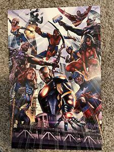Greg Horn SIGNED Avengers Big City - high quality 11 x 17 Print