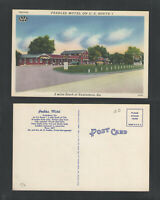 1940s PEEBLES MOTEL ON US ROUTE 1 { 2 MILES SOUTH OF } SWAINSBORO GA POSTCARD