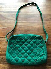 Bottega Veneta Vintage Emerald Green Quilted Leather Suede Crossbody Leather