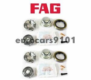 Mercedes 300CD 300D 300TD FAG (2) Front Wheel Bearing Kits 1163300051 713667430