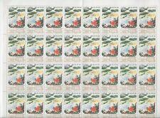 L4707  KOREA BLOCK OF 32  STAMPS 1961-1976 TREE APPLES NATURE LANDSCAPE