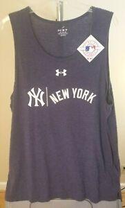 New York Yankees MLB Under Armour Classic Blue Team Logo XL Tank Top T-Shirt