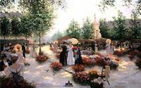 April In Paris by Christa Kieffer Flora Limited Edition Print Paris Street Scene