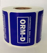 1 Roll Other Regulated Material 2x1.5 Cartridges Small Arms Orm-D 500 Labels