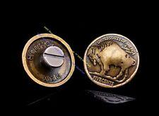 10X Brass Buffalo Nickel Head ScrewBack Concho for Belt Leathercraft Accessories