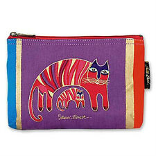 LAUREL BURCH - FELINE FROLIC COSMETIC BAG - JIO'S CATS - NWT!
