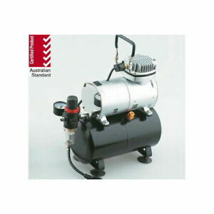 SILENT MINI AIR COMPRESSOR 1/5HP WITH HOLDING TANK, REGULATOR AND WATER TRAP