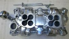 WEIAND DUAL QUAD SMALL BLOCK CHEVY ALUMINUM INTAKE MANIFOLD POLISHED