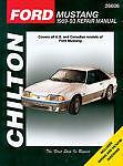 Chilton Books 26606 Repair Manual Ford Mustang 1998-1993