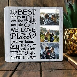 Personalised Best Friend Family Plaque Signs Keepsake Photo Block Present Gift