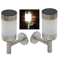 Solar Motion Sensor Lights Outdoor LED Path Landscape Garden Fence Lamp #D