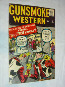 Gunsmoke Western #62 F+ Kirby cover who is the other Kid Colt LOOK