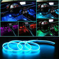 LED Flexible EL Wire Neon Glow Light Car Inner Panel Decor Party USB Controller