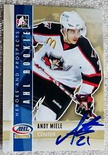 Phoenix Coyotes Andy Miele Signed 11/12 ITG H&P Portland Pirates Auto Card