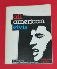 """""""All American Elvis"""" 1st Edition 1976 8x10 Soft Bound 218 pages Elvis Records"""