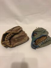 Vintage Baseball Gloves Trio Hollander Top Grain Cowhide Milt Pappas Model