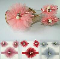 3Pcs set Fashion Baby Girl Toddler Bow Elastic Flower Headband Hair Accessories