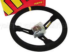 MOMO Steering Wheel - Mod 08 (350mm/90mm Dish/Leather/Black Spoke)