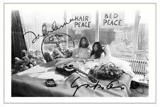 JOHN LENNON AND YOKO ONO SIGNED PHOTO PRINT AUTOGRAPH THE BEATLES IMAGINE
