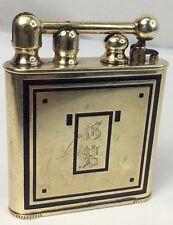 RARE  Douglass 14k Gold Filled Enamel Lift Top Lighter 1930's (I195)