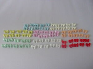 10 Quality Cute Bows Novelty Buttons 16mm Baby Children Sewing Choice Of Colour