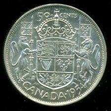 1954 Queen Elizabeth II, Silver Fifty Cent Piece, Lustre!   F139