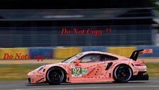 Christensen & Estre Vanthoor Porsche 911 Rsr Pink Pig Le Mans 2018 Photograph 23