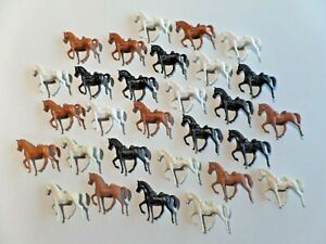 Vintage Lot of 29 Plastic Toy Horses Prancing Marching Cavalry Type