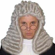 Deluxe Grey Judge Wig Mens Costume Accessory Legal Court Colonial