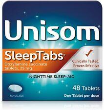 Unisom SleepTabs Nighttime Sleep-aid Doxylamine Succinate 48 Tablets