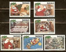 Disney 1981 Christmas of Anguilla cartoons stamp SCOTT# 453-459 (MNH)