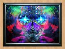PSYCHEDELIC Trippy Funky Mushrooms Audio Video Visulization A4 Photo Print 24