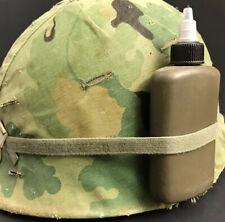 Vintage Unmarked Lsa Oil Bottle wear on your Us M1 Vietnam War Era Helmet