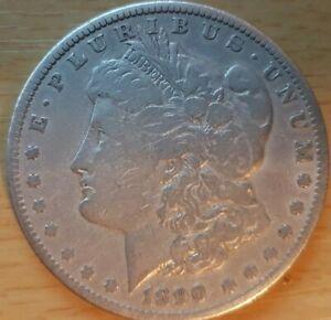 USA 1890 MORGAN SILVER DOLLAR FINE GRADE