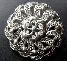 Vintage Filigrana de plata esterlina Daisy Flor Broche Pin-N335