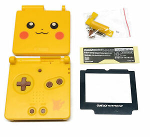 GBA SP Game Boy Advance SP Replacement Housing Shell Screen NEW Pikachu